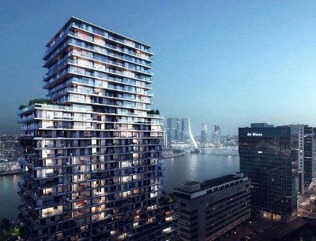The terraced tower Boompjes Rotterdam
