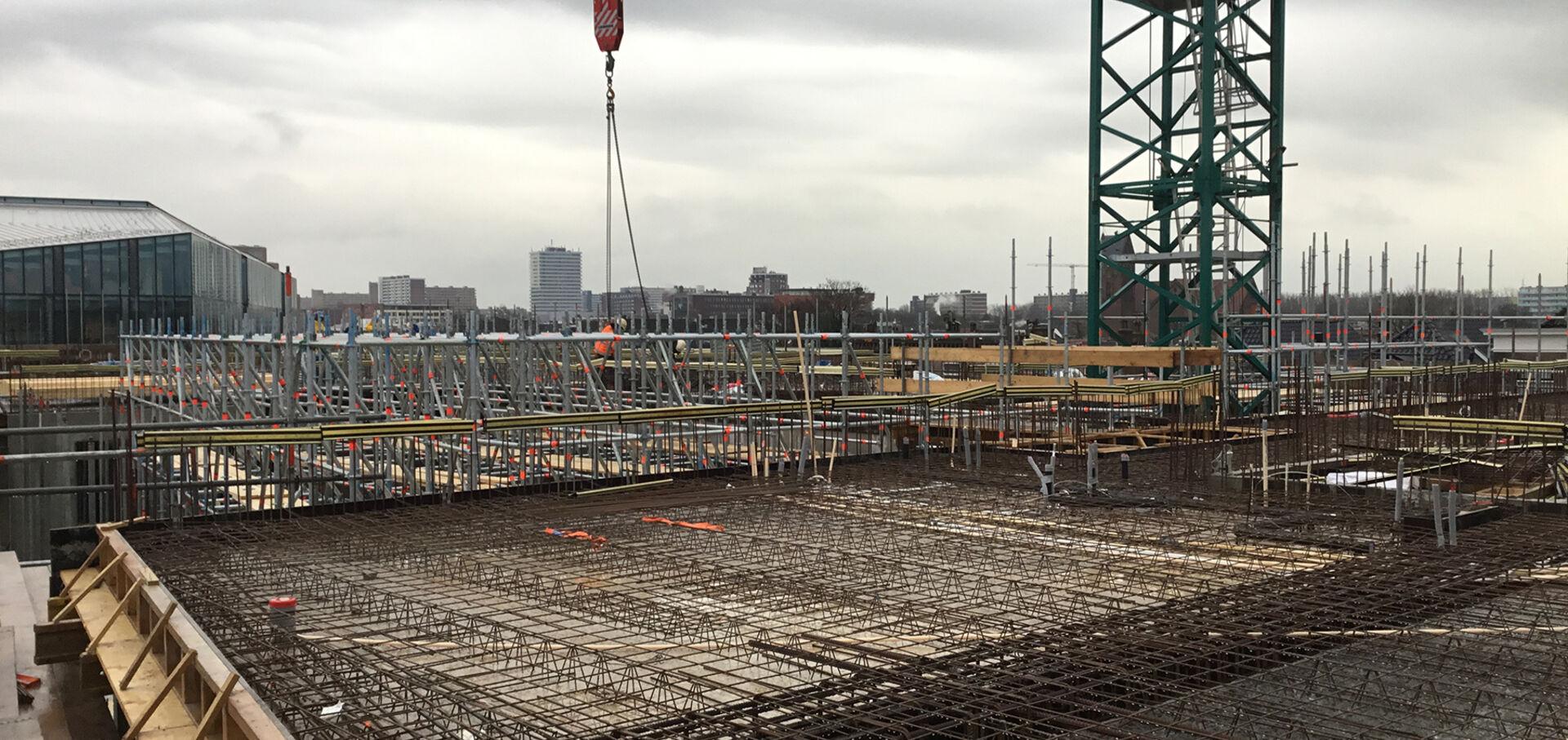 De bouw is inmiddels in volle gang