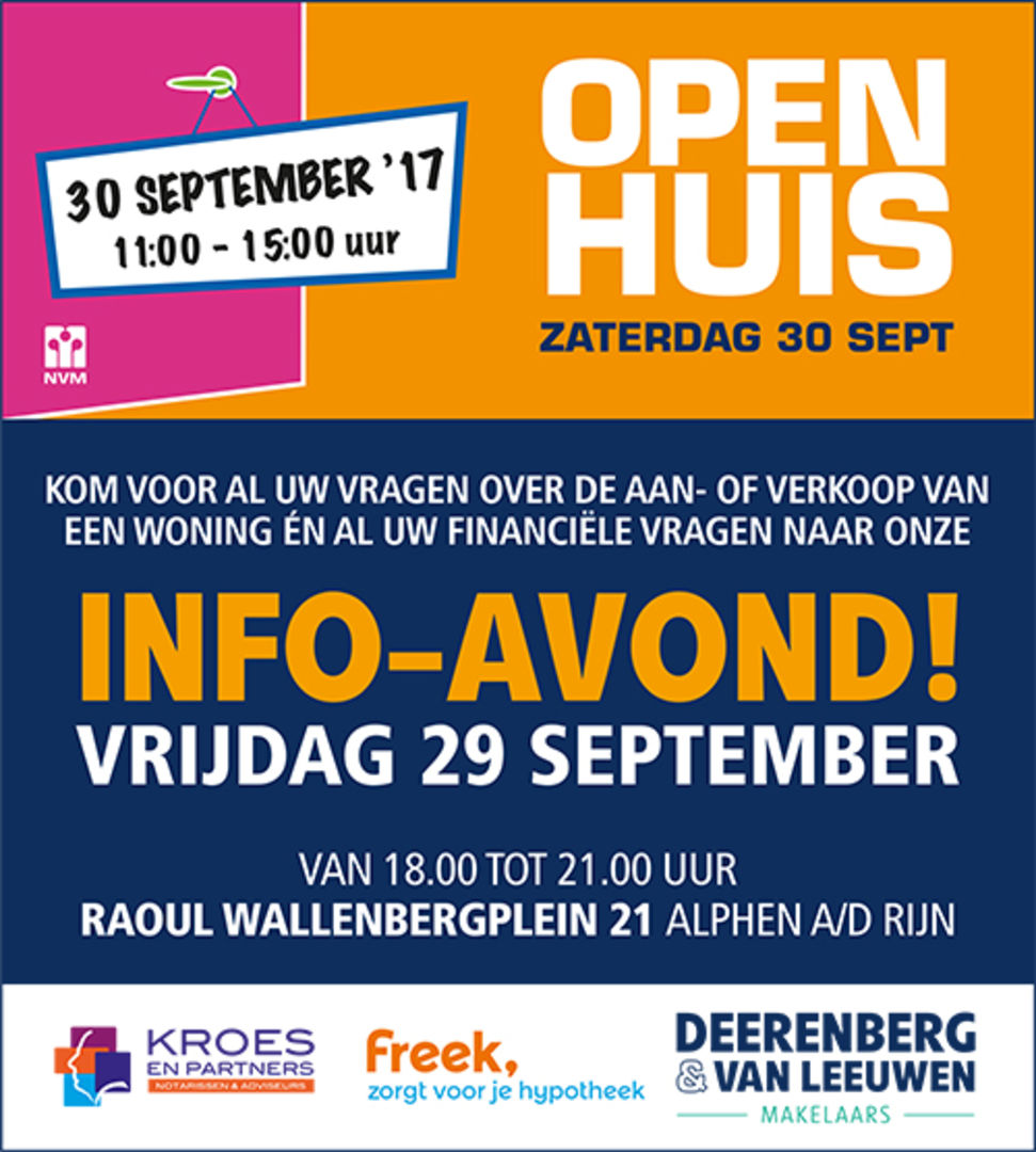 Informatieavond 29 september