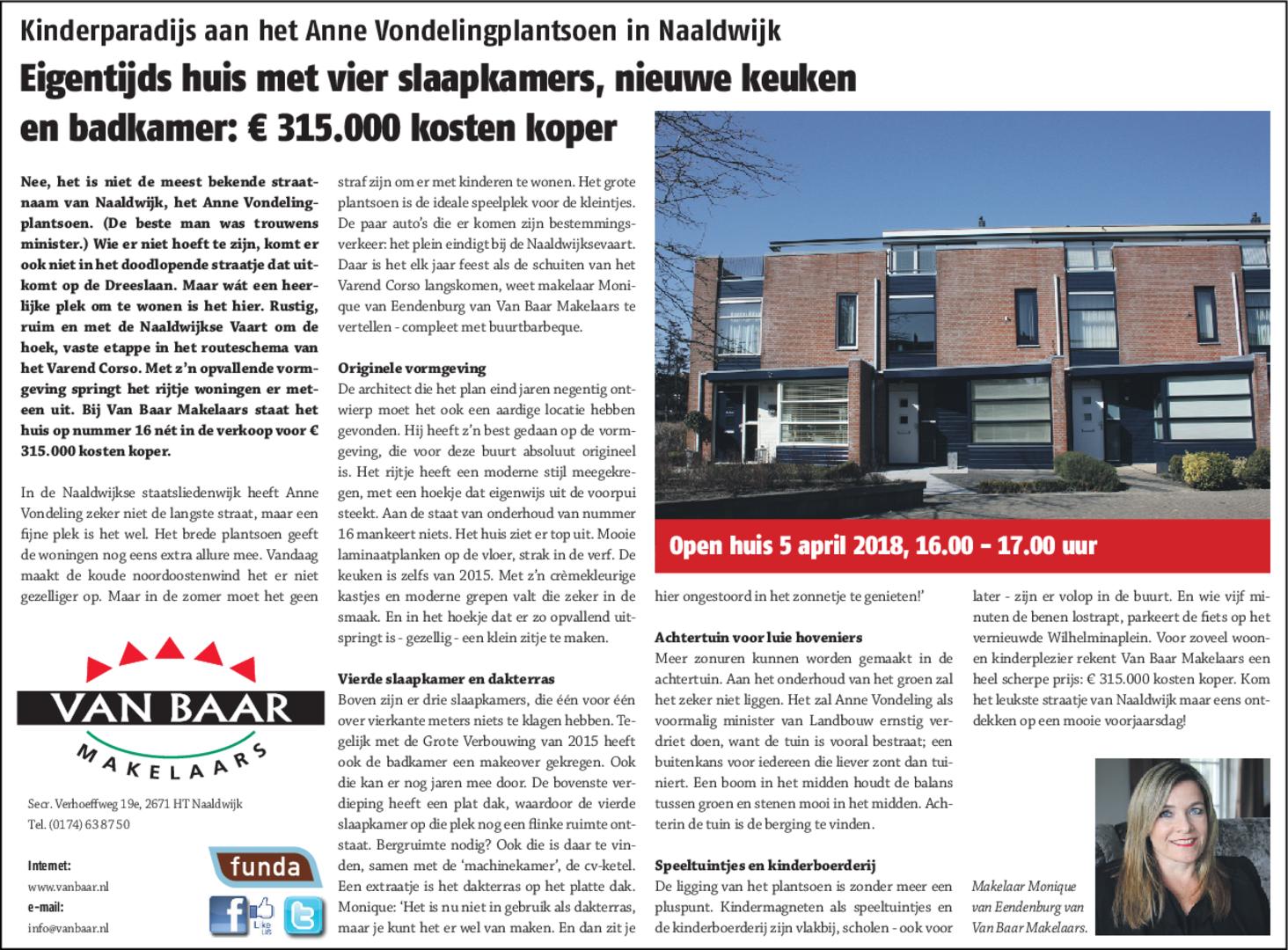 Kinderparadijs aan het Anna Vondelingplantsoen in Naaldwijk ...