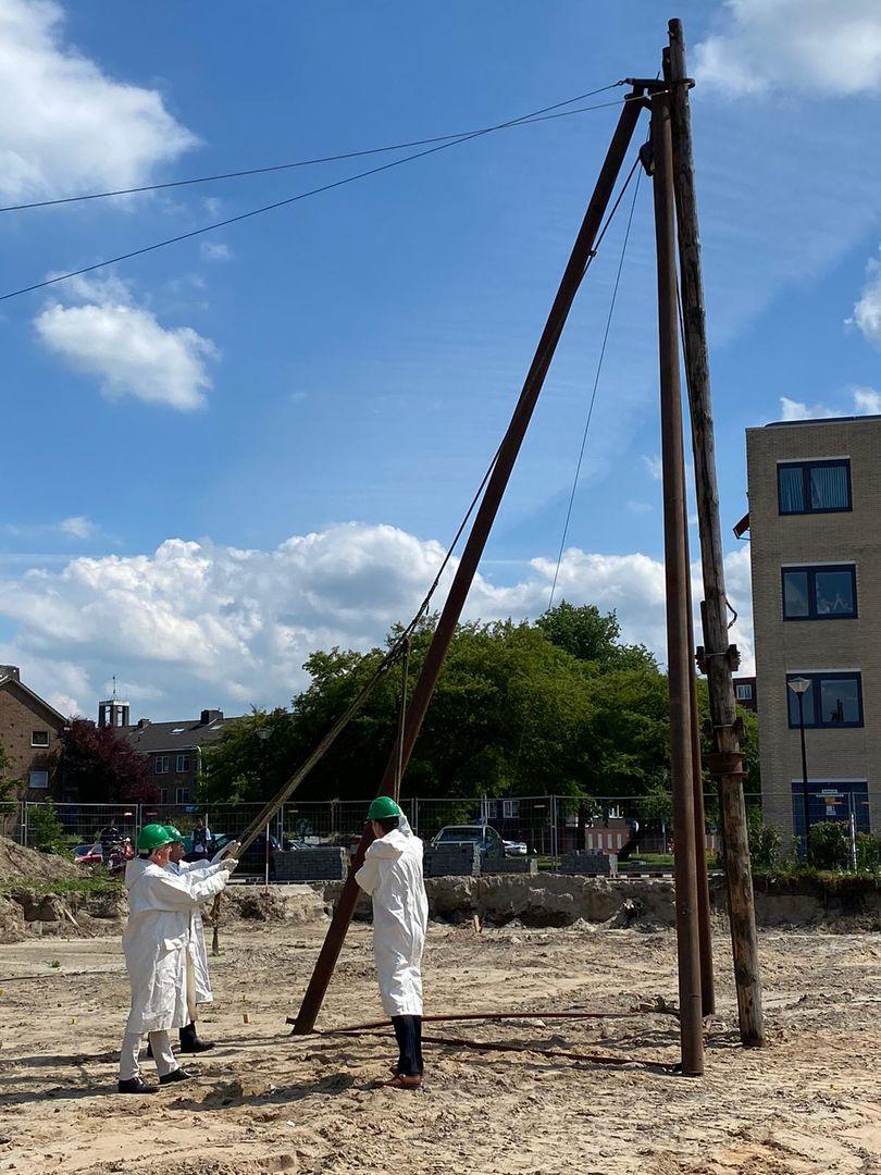 1e paal nieuwbouwproject De Harmonie geslagen!
